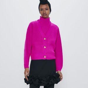 Zara hot pink cardigan